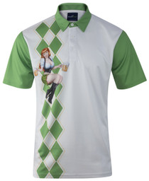 ReadyGOLF Mens Golf Polo Shirt - Beer Girl