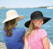Womens Victoria Diva Sun Hat - Black by Wallaroo Hats