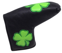 Irish Shamrock Embroidered Putter Cover by ReadyGOLF - Blade
