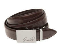 Arnold Palmer: Men's Crocodile Pattern Belt - Brown