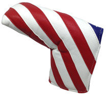 USA Flag Embroidered Putter Cover by ReadyGOLF - Blade