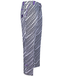 Tattoo Golf: Mens Golf Pants - ProCool Houndstooth (Black/White/Purple)