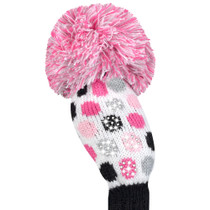 Just 4 Golf Headcovers - Hybrid - Sparkle 4 Color Luxe Small Dot, White, Pink, Black, & Grey