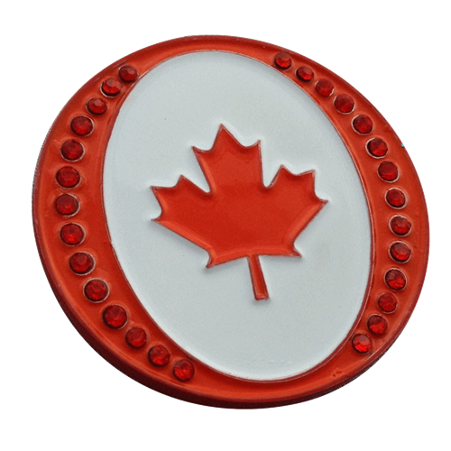 Oh Canada Ball Marker Amp Hat Clip With Crystals By Readygolf
