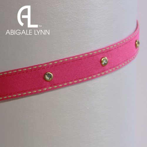 Abigale Lynn Visor Band - Fuchsia Saddlestitch