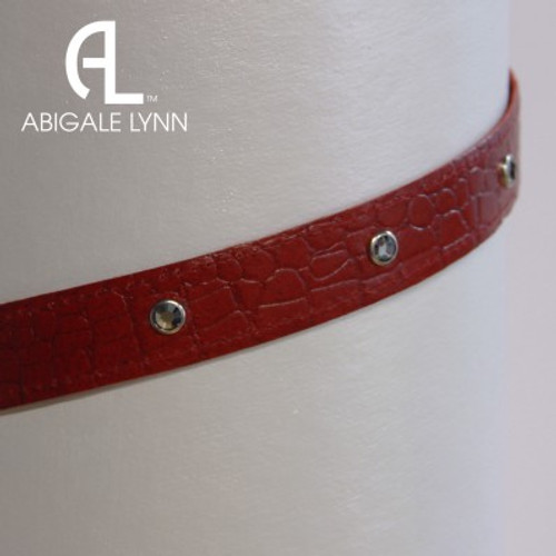 Abigale Lynn Visor Band - Red Crocodile