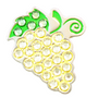 BELLA Swarovski Crystal Ball Marker & Hat Clip - GRAPES -  White