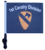1st CAVALRY DIVISION 11x15 inch Golf Cart Flag with Pole