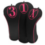 BeeJo's: Headcover - Simple Hot Pink Print