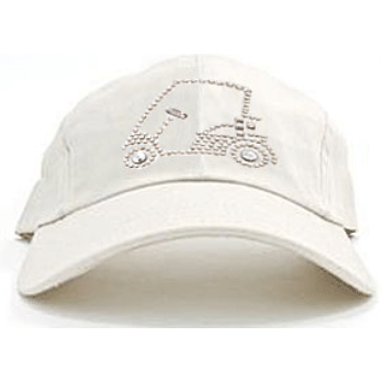 4030c336de9 Golf Cart on Stone Ladies Baseball Hat by Dolly Mama