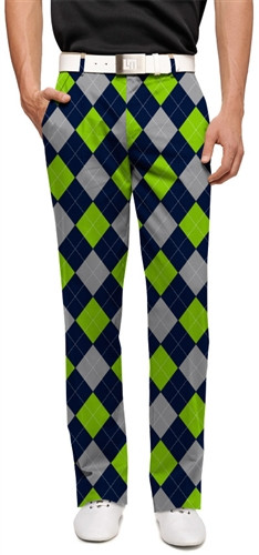 Blue Silver Amp Sea Green Argyle Mens Pants By Loudmouth Golf