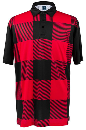 Lumberjack Red Mens Loud Golf Polo Shirt By Readygolf