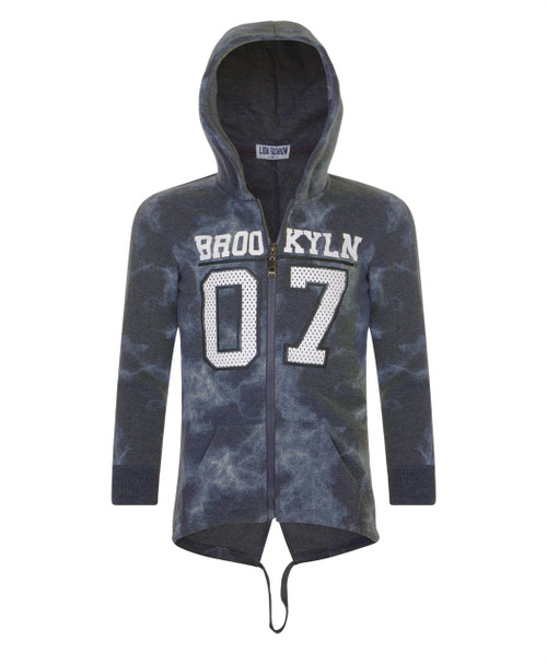 Boys Printed Jumper in Charcoal