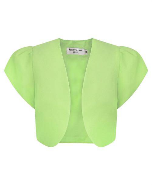 Girls Chiffon Bolero in Green
