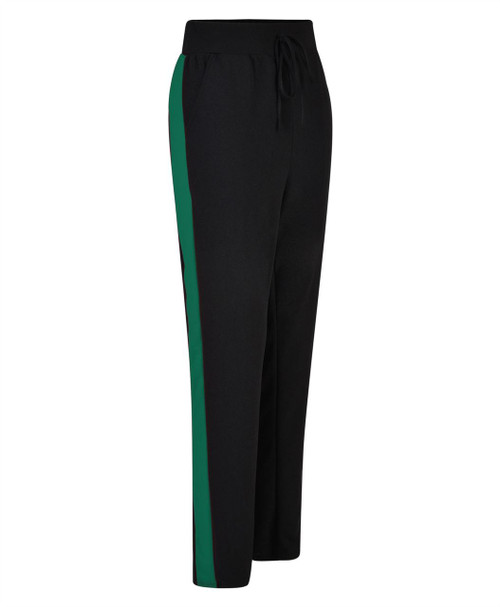 Women Pencil Loose Sweatpants in Black-White, Black-Red and Black-Green