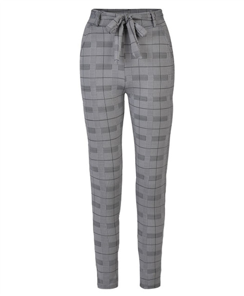 Women Drawstring Belted Trousers in Style 1 and Style 2