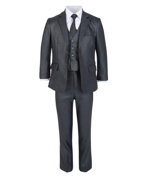 Boys Samli 5 Piece Suit in Charcoal