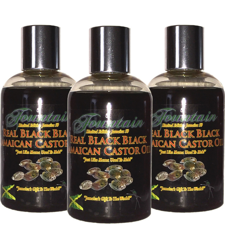 FOUNTAIN XTRA BLACK JAMAICAN BLACK CASTOR OIL is the original Jamaican Black Castor Oil processed the old fashioned way, with the original burnt smell!  You are just literally days away from thicker, stronger & longer hair - fill bald patches, add volume to thin, lifeless  brittle hair & thinning edges!