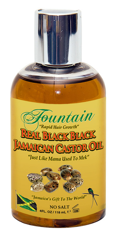 Fountain Real Black Black Jamaican Castor Oil 4 Oz