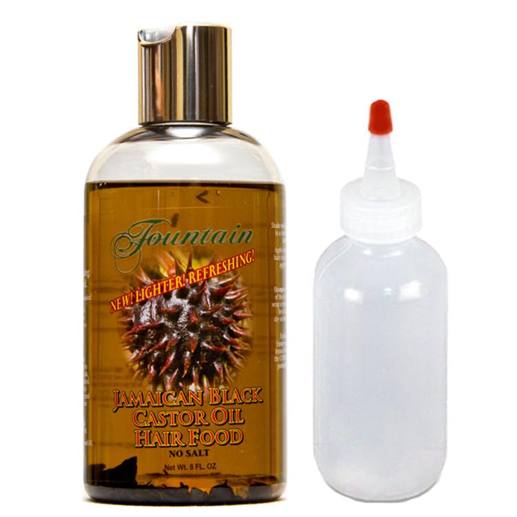 Fountain Jamaican Black Castor Oil Hair Food 8 oz & applicator