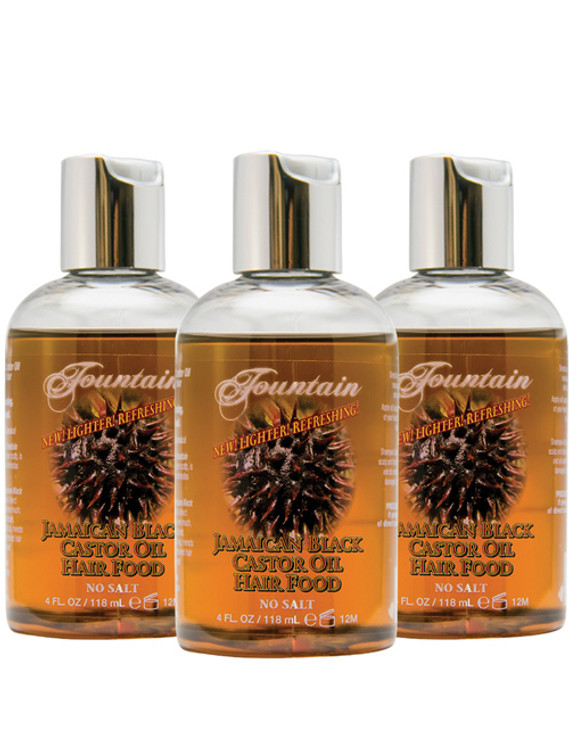 Fountain Jamaican Black Castor Oil Hair Food 4 Oz 3-Pack