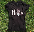 LYFE The Heatles Black Vintage V-Neck Shirt for Women