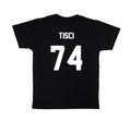 LES (ART)ISTS Black TISCI74 Football Tee
