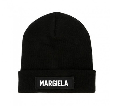 Black MARGIELA Beanie Patch