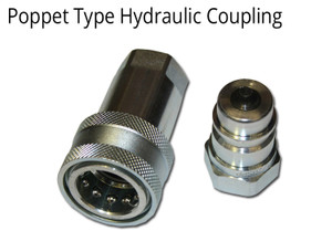 "HYDRAULIC COUPLING 1/2"" BSPP THREADS POPPET TYPE- 2 SETS"