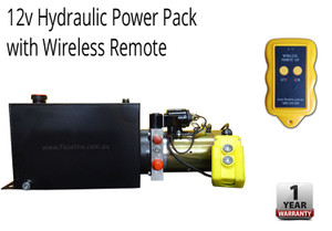 Hydraulic Powerpack -12V DC -10lt Tank with Wireless Remote
