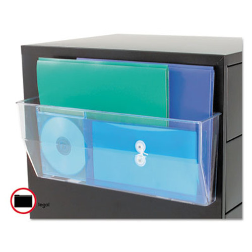 DEF50101 Oversized Magnetic Wall File Pocket, Legal/Letter, Clear