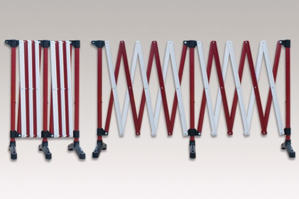 Port-a-guard expanding barrier 6.0m (2-in-1) kit 9.8kgs - red/white