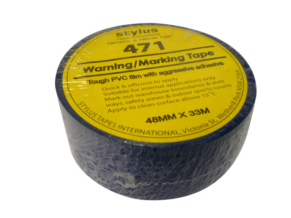 48mm 471 Floor Marking Tape 33mtr roll BLUE