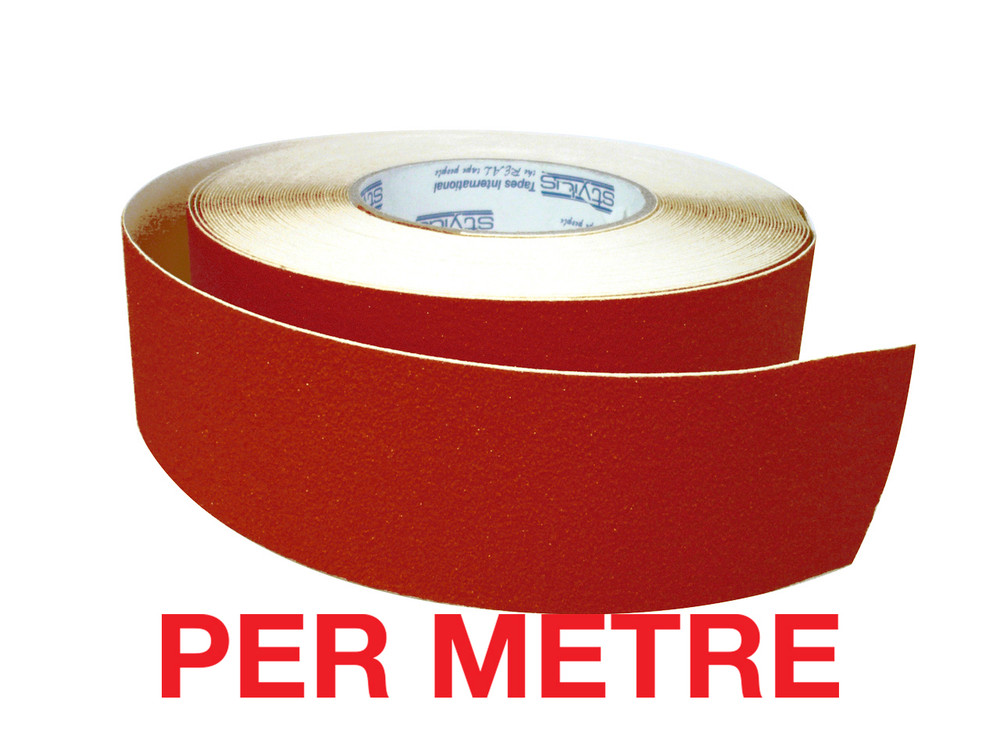 50mm Anti-Slip Tape RED - PER METRE