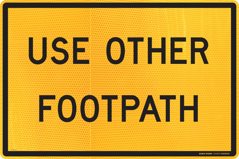 900x600 USE OTHER FOOTPATH - ALUMINIUM FLAT PLATE