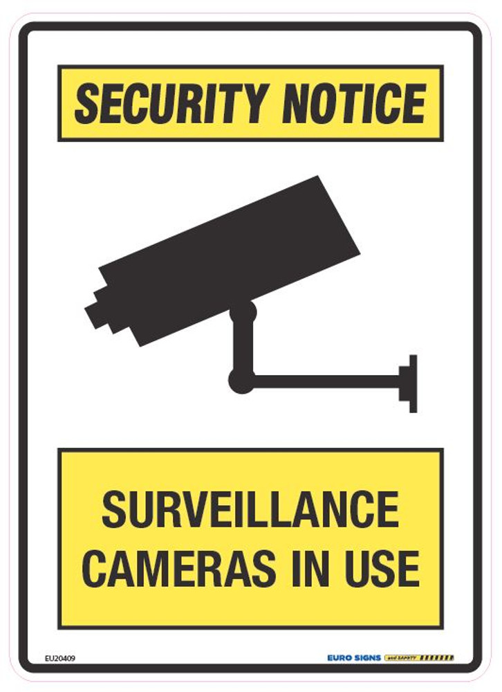 SURVEILLANCE CAMERAS IN USE 180x250 DECAL