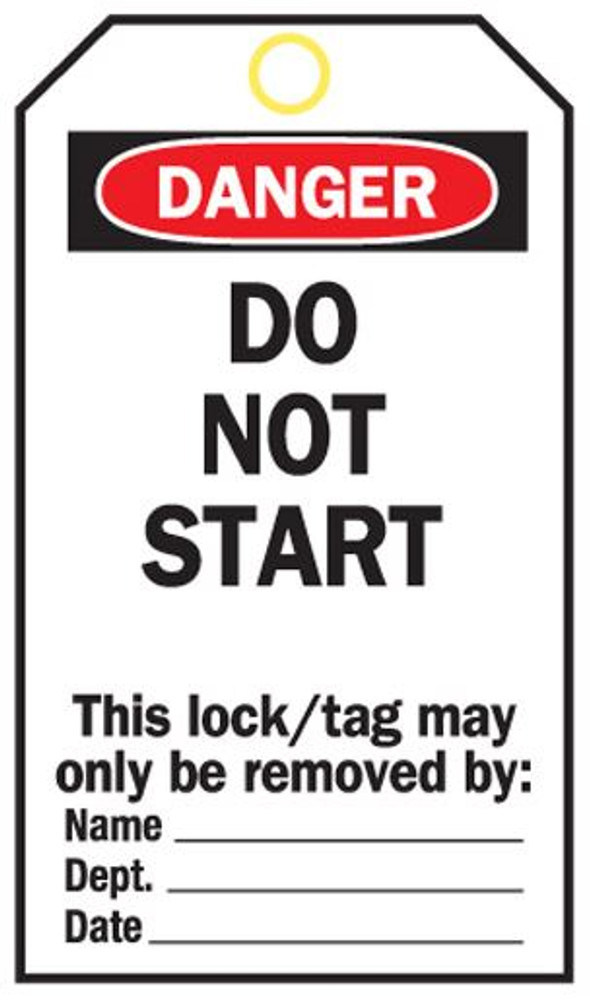 DO NOT START-POLY TAGS c/w ties x25