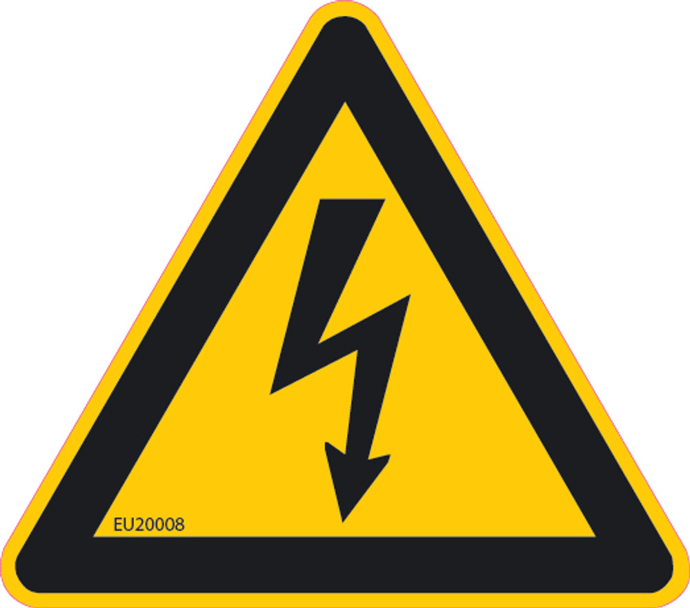 ELECTRICAL HAZARD Triangle 89x78 DECAL