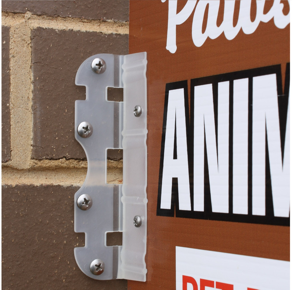 Sign-A-Bracket for Corflute Signs (inc x2 ties & x2 screws)