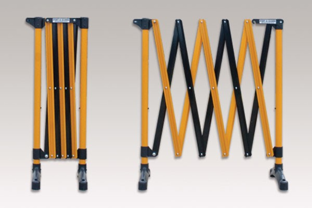 Port-a-guard expanding barrier 3.0m (2-in-1) kit 5.7kgs - black/yellow
