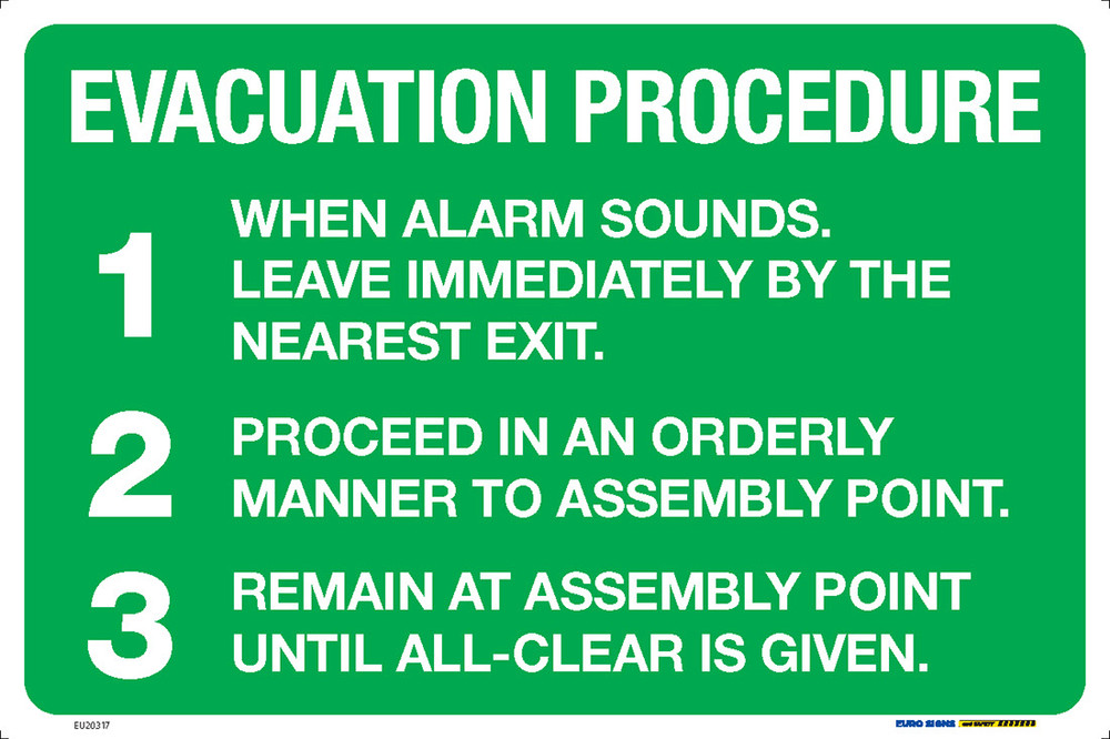 EVACUATION PROCEDURE 450x300 MTL