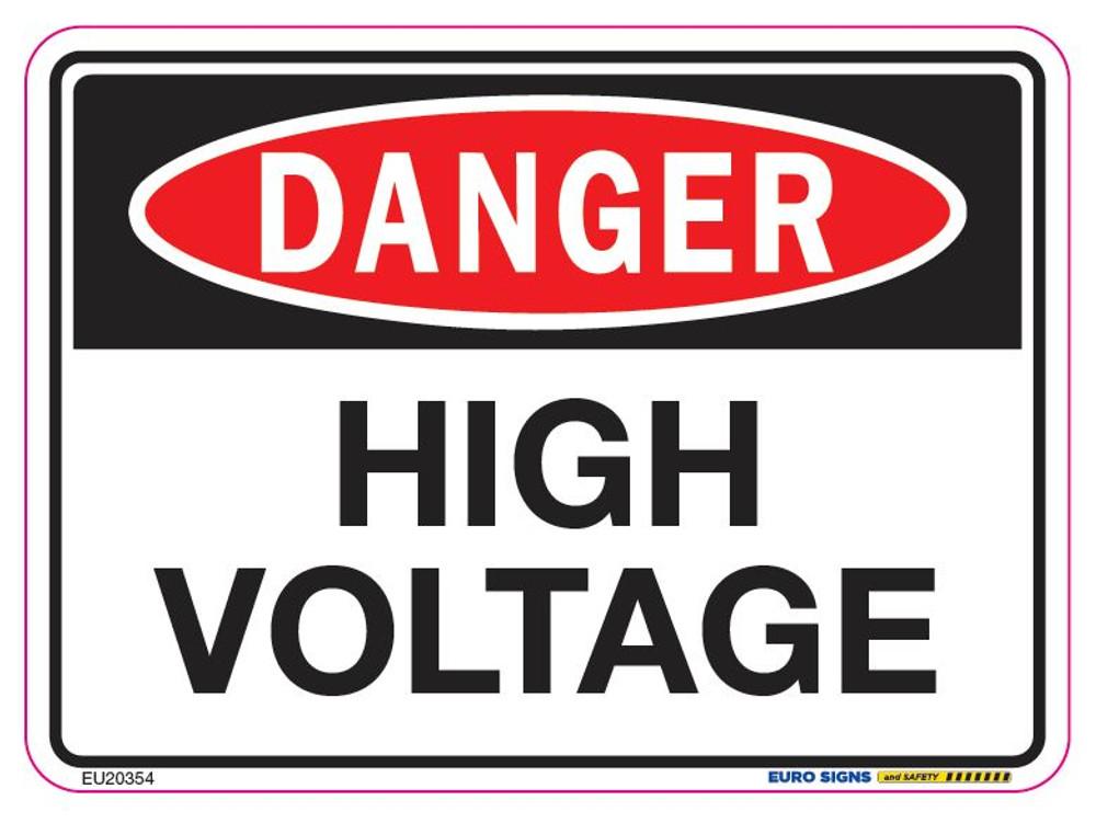 DANGER HIGH VOLTAGE 125x90 DECAL