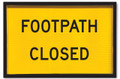 900x600 Box Section FOOTPATH CLOSED