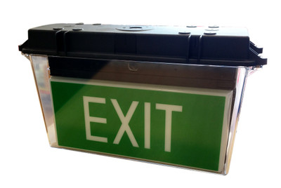 Weatherproof Outdoor D/Sided Illuminated EXIT *END OF LINE*