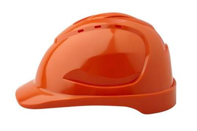Hard Hat (V9) VENTED 6 Point PINLOCK Harness ORANGE