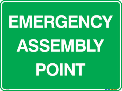 EMERGENCY ASSEMBLY POINT 600x450 MTL
