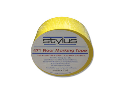 48mm 471 Floor Marking Tape 33mtr roll YELLOW