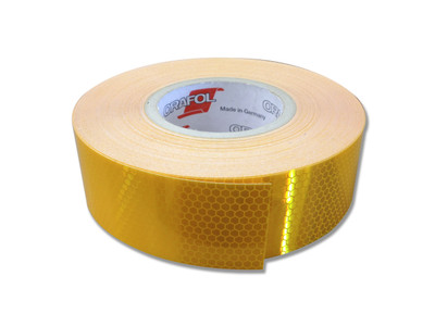 50mm Class 1 Reflective Tape YELLOW 45.7 metre ROLL