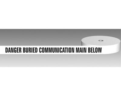 U/Ground Tape DANGER - BURIED COMMUNICATION CABLE BELOW 100mmx250m - PLAIN