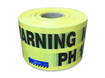 U/Ground Tape WARNING - NATURAL GAS PH 131 909 150mmx500m - PLAIN - *END OF LINE*